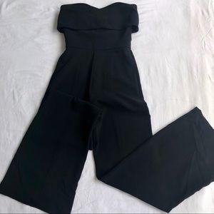 Alexis strapless black jumpsuit.